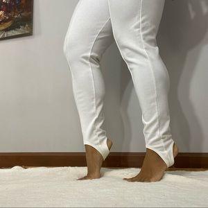 Vintage Capezio white stirrup leggings tall